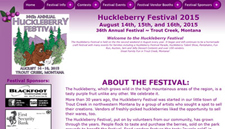 Huckleberry Festival Trout Creek Montana